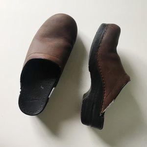 Dansko Leather Mule Clog Slip Ons